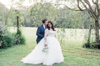 August Outdoor Wedding 1812 Hitching Post-18