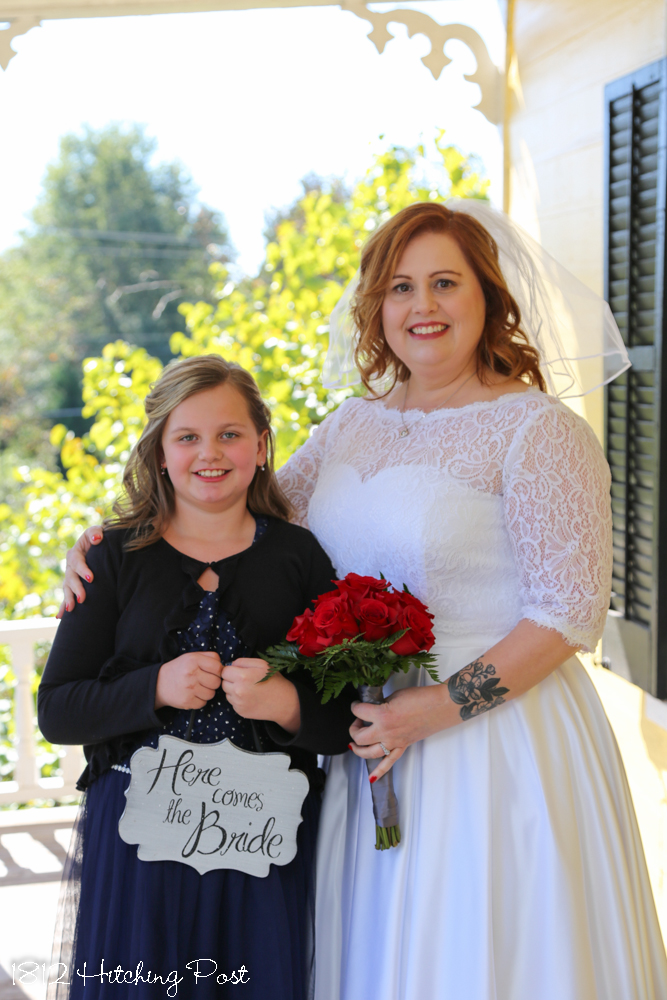 82da5ac9f8f Michelle s three daughters stood up as her bridesmaids and Jacob s daughter  was the flower girl and stood on his side. It was a beautiful and sweet day!