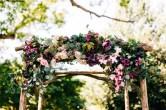Silk burgundy, blush, and greenery