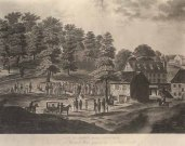 View on Jones's Falls, Baltimore, Sept. 13, 1818. Engraving and watercolor on paper by J. Hill. Robert C. Merrick Print Collection, Prints and Photographs Department, Maryland Historical Society Library,