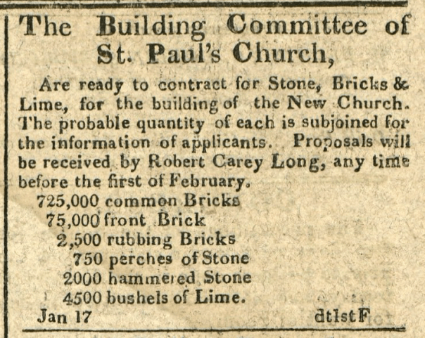 The Building Committee of St. Paul's Church are ready...