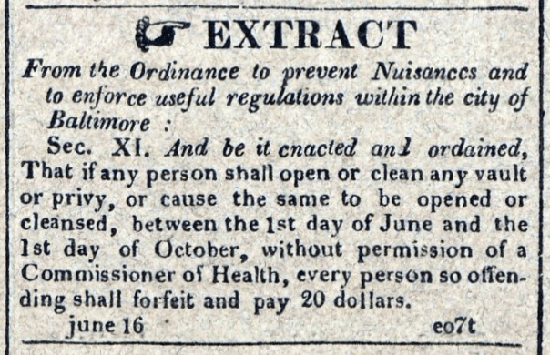 American Commercial and Daily Advertiser, June 16, 1814. Maryland State Archives SC3392