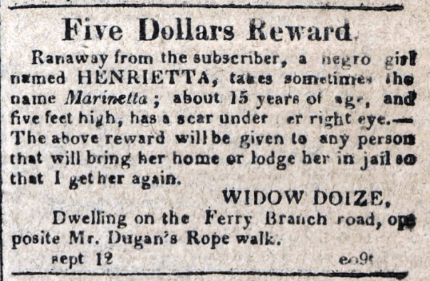 American Commercial and Daily Advertiser, September 12, 1814. Maryland State Archives, SC3392.