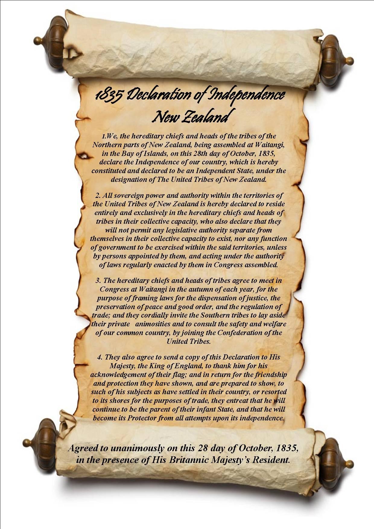 Declaration Of Independence Flag