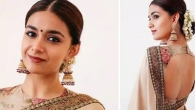 Keerthy Suresh mesmerizes in silver saree after three years for this reason – Tamil News