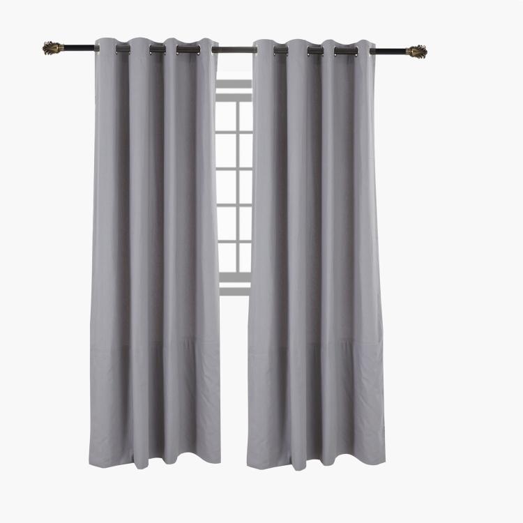 essential textured 4 piece curtain set 135x300 cms