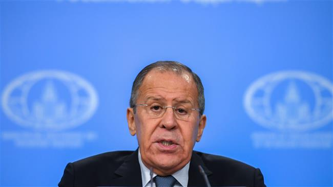 Russian Foreign Minister Sergei Lavrov gives his annual press conference in Moscow on January 15, 2018. (Photo by AFP)
