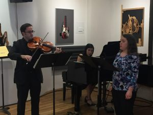 Soprano Abigail Chapman, violist Gregory K. Williams, and pianist Fang-Yi Chu