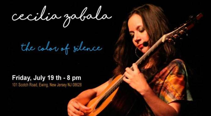 "<b>Cecilia Zabala, ""The Color of Silence""</b><br>Friday, July 19 — 8:00 PM"