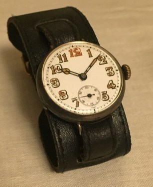 Watch with insription given to Lt. J.G. Dohetry by the London Free Press on December 1st, 1915. Via: http://blogs.canoe.com/coolblognametocome/news/jack-dohertys-watch/