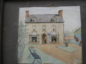 Sutton House 1913 Water colour by W Gilbert