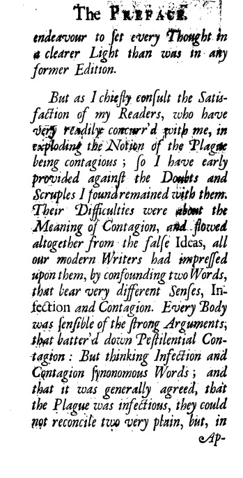 Excerpt of Medical Text by Richard Mead