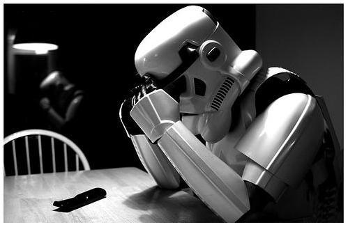 *insert a funny caption about a sad stormtrooper here*