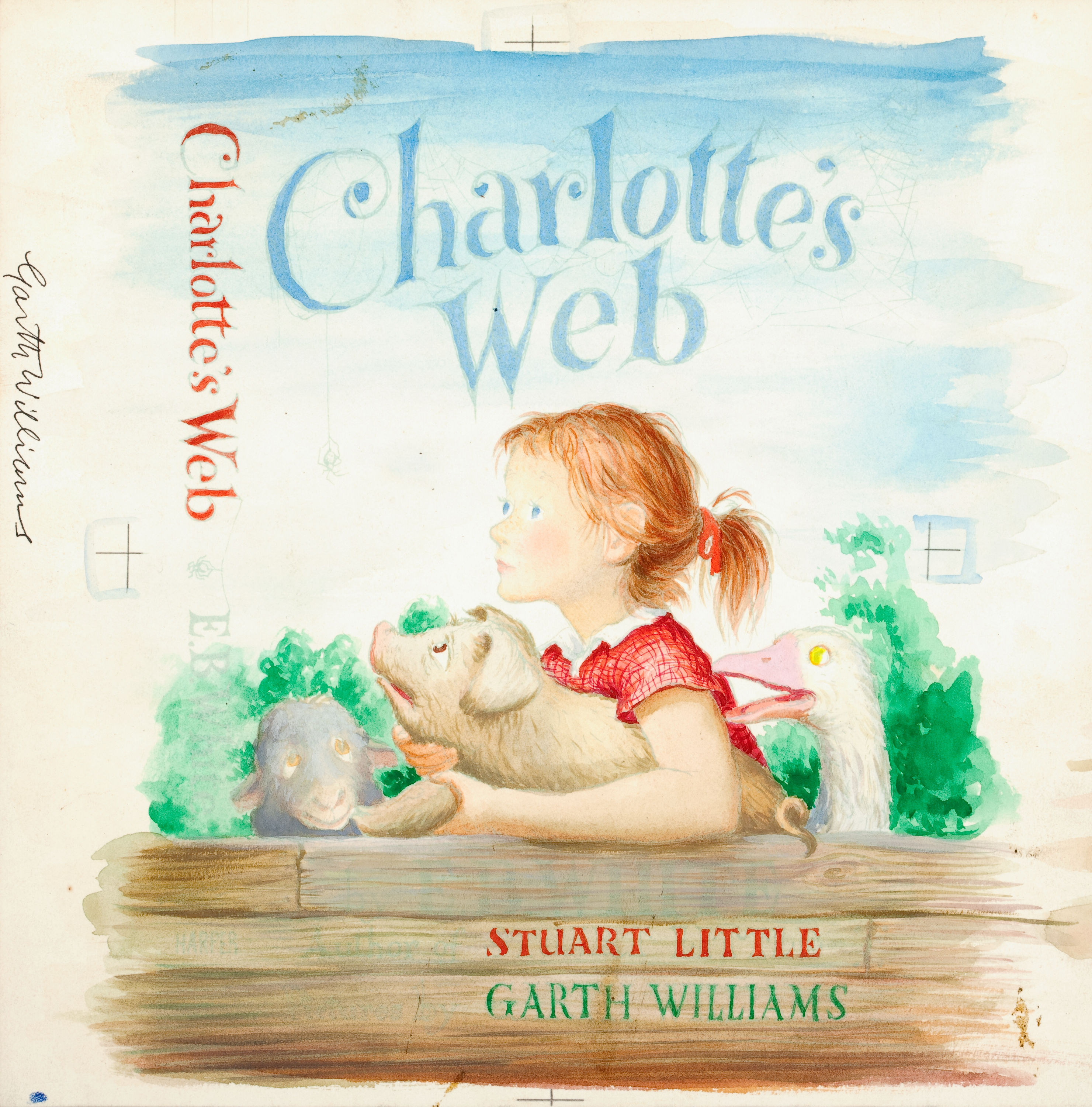 Charlotte S Web Book Cover Art Sells For 155 350