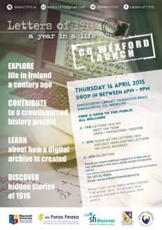 Thumbnail for @Letters1916 Project: @WexfordCoCo Archive / Enniscorthy Library, Thur 16 April '15, 6-9pm