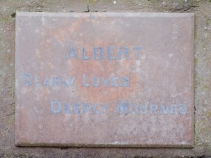 Albert Martin's plaque