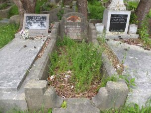 Ronald Lewis's grave - before photo