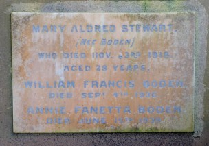 Mary Stewart's plaque