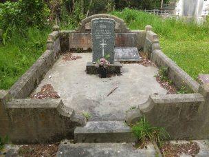 William Williams' grave - before photo