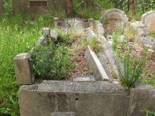 James Ward's grave - before photo