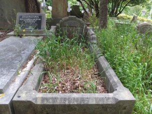 Claude Bobin's grave - before photo