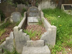 Edward Gallaugher's grave - before photo