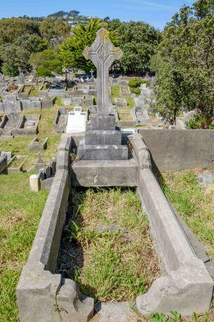 John Keane's grave - before photo