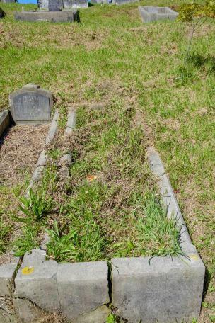 Pat Healey's grave - before photo