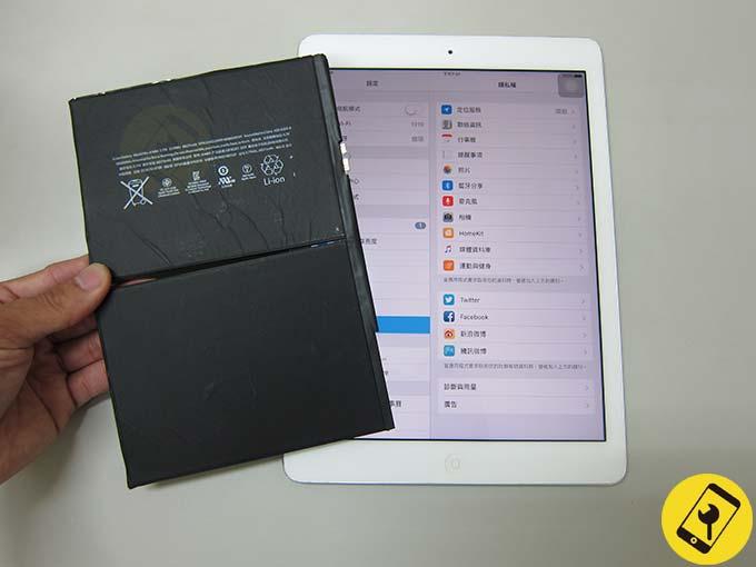iPad air 電池更換