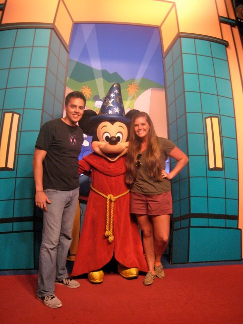 Meeting up with Sorcerer Mickey again in 2012