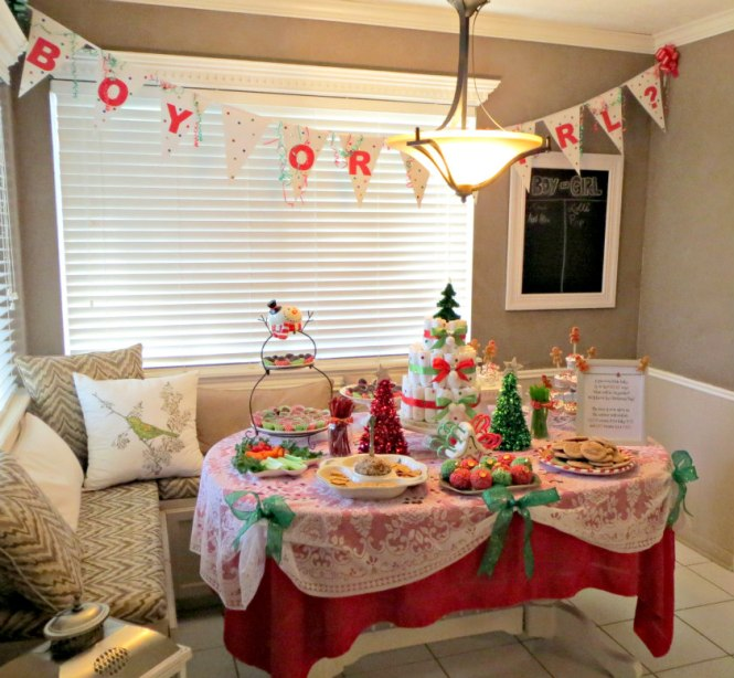 3 Christmas Gender Reveal Decor
