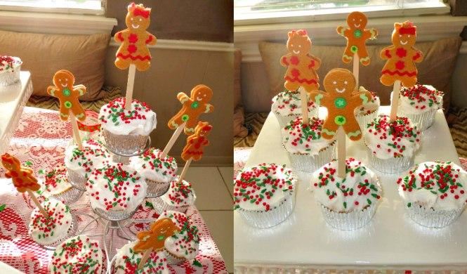 9 Christmas Gender Reveal Cupcakes