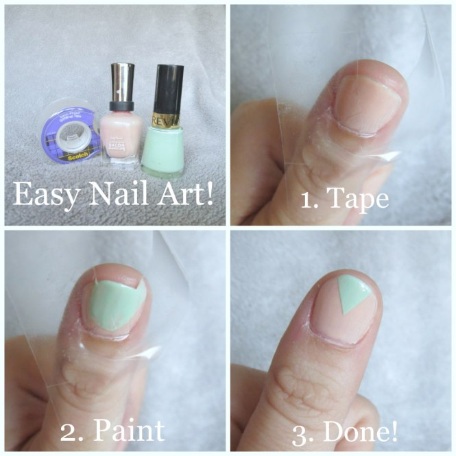 Simple Nail Art Cost: Sally Hansen Naked Ambition