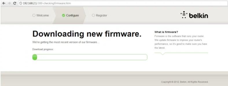 Imagem que mostra o download do novo firmware