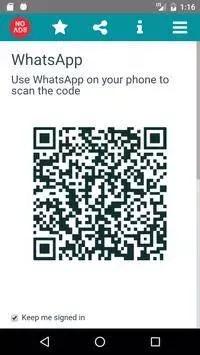 Escaneando o código no Whatscan para iphone
