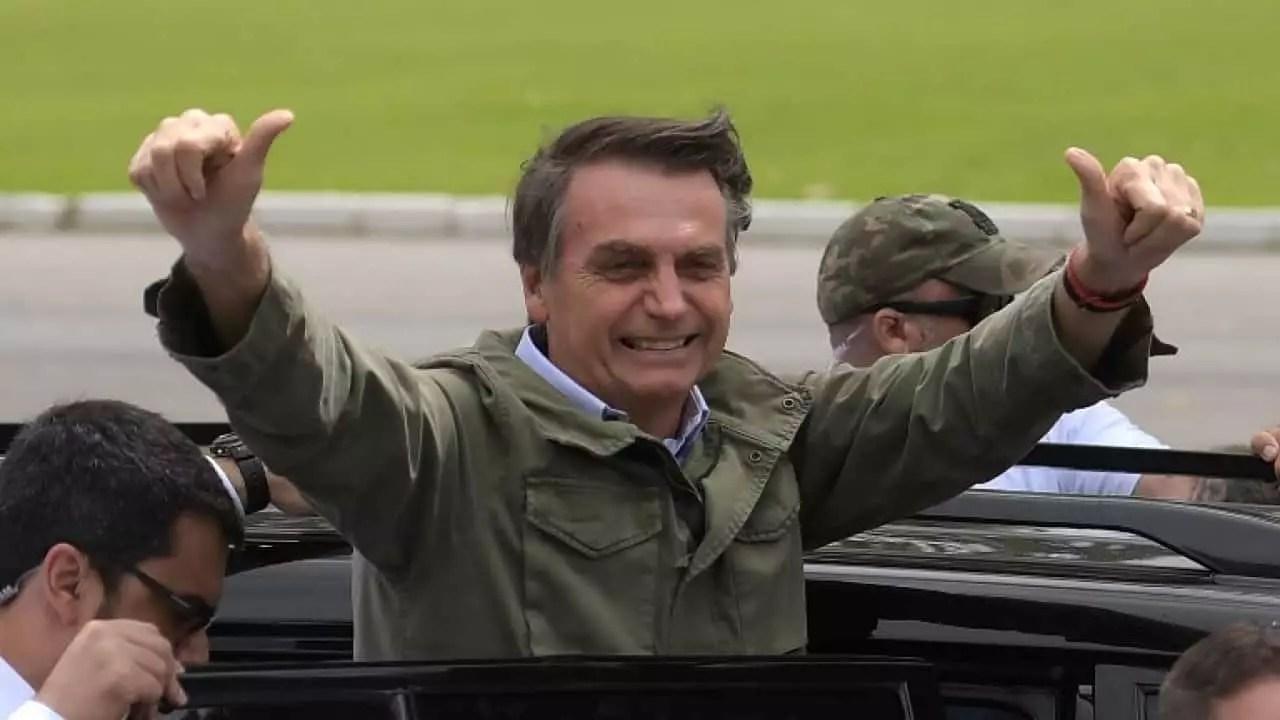 imagem mostra o presidente bolsonaro