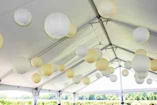 35 Paper Lanterns (white, yellow)