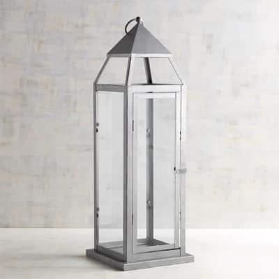 Silver Galvanized Lantern