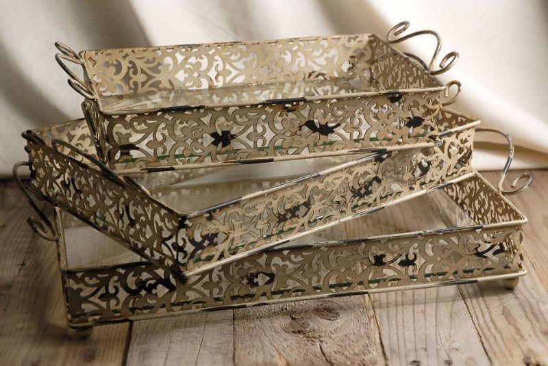 Metal Trays - Glass Insert