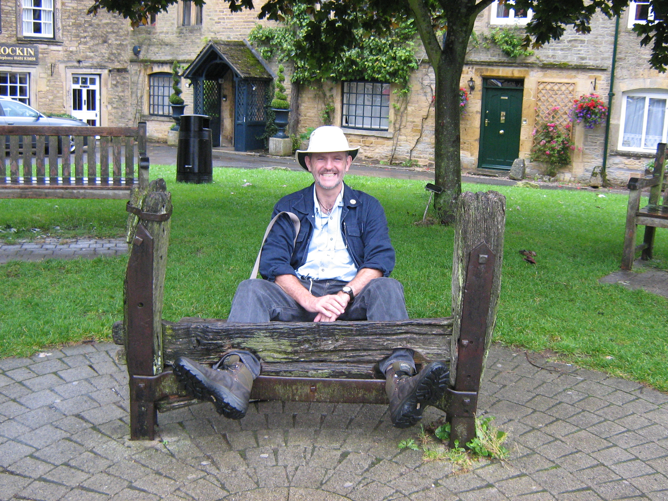 Alan being punished in Stow for not working harder on the blog