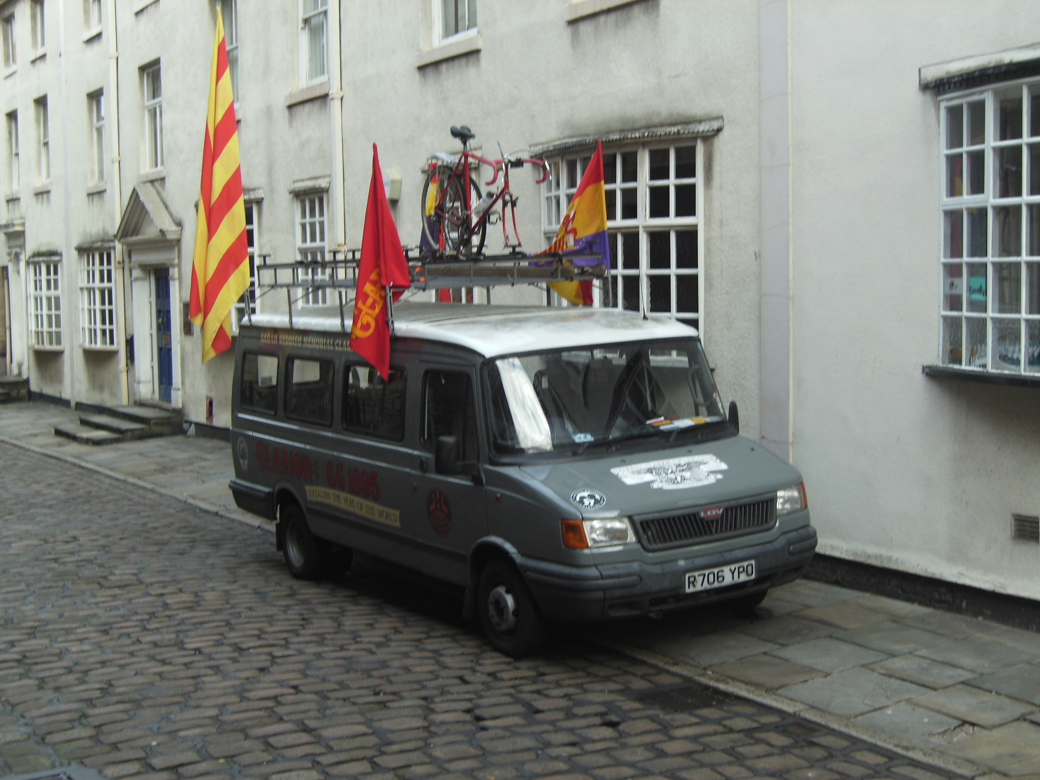 The bus by Bolton Socialist Club