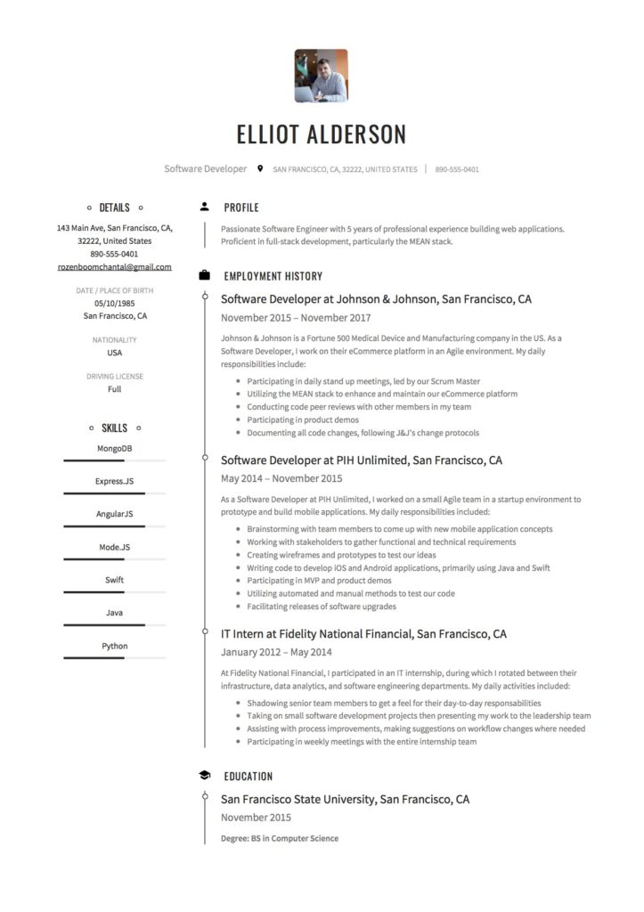 But you'll be pleased to know that writing a good software engineer resume is surprisingly similar to writing good code. Guide Software Developer Resume 19 Examples Word Pdf 2020