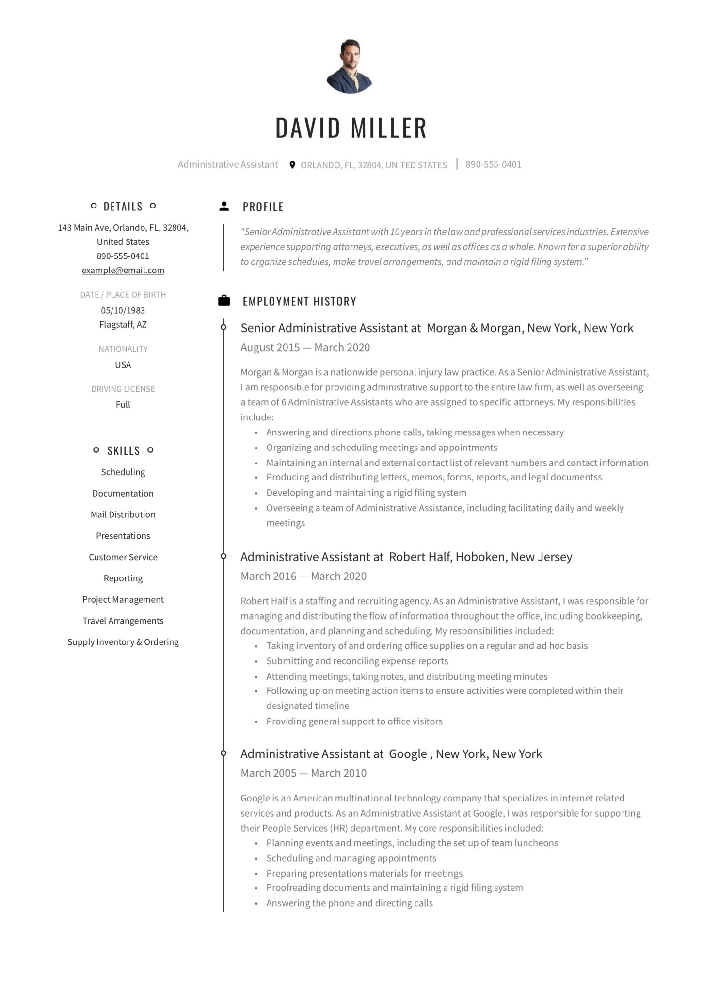 Use these strategies and sample resume objective statements to send the right message to a prospective employer with an excellent admin assistant resume objective. 19 Free Administrative Assistant Resumes Writing Guide Pdf