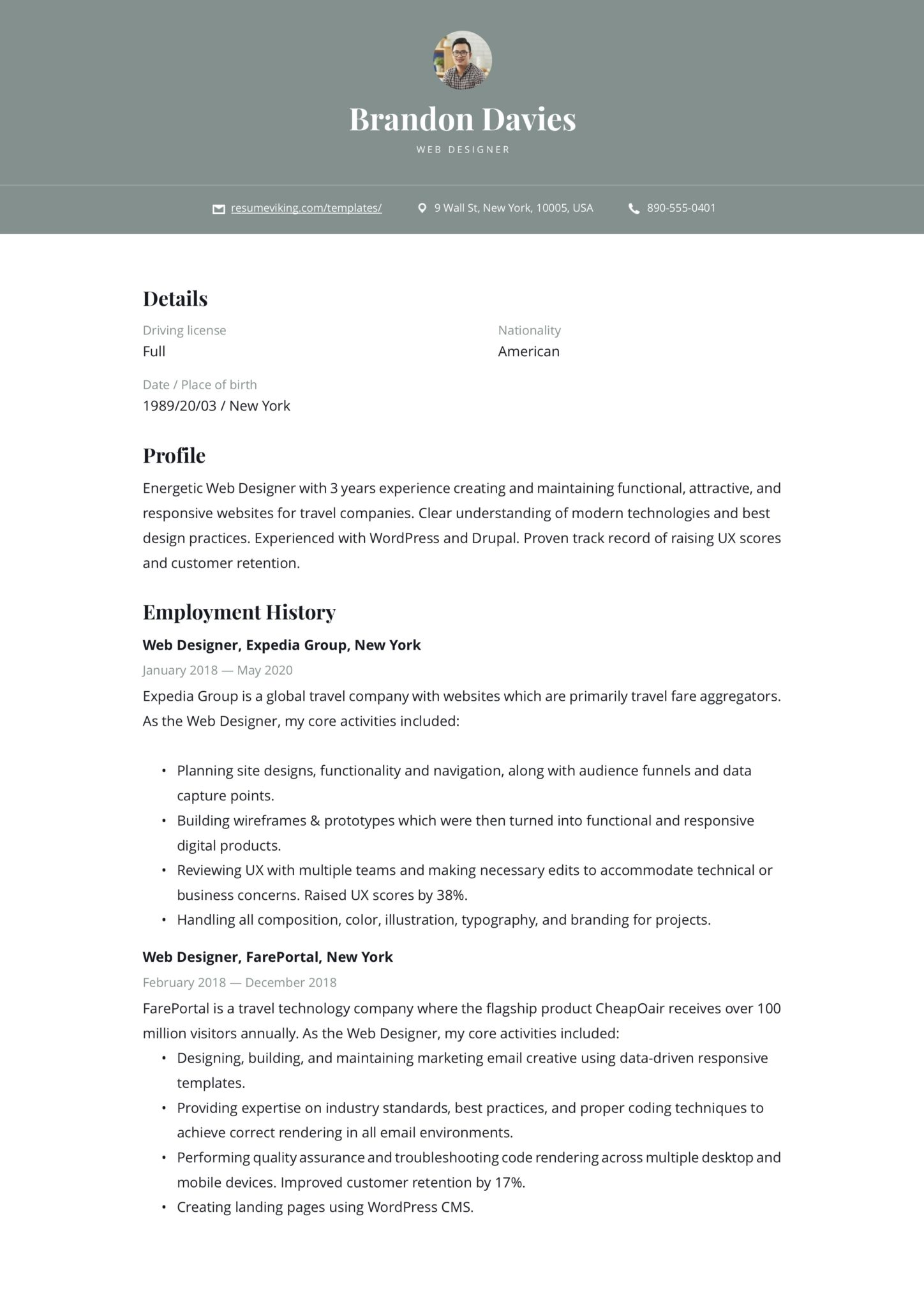 This is a great place to showcase your soft skills which can give you an advantage over your competition. 19 Free Web Designer Resume Examples Guide Pdf 2020