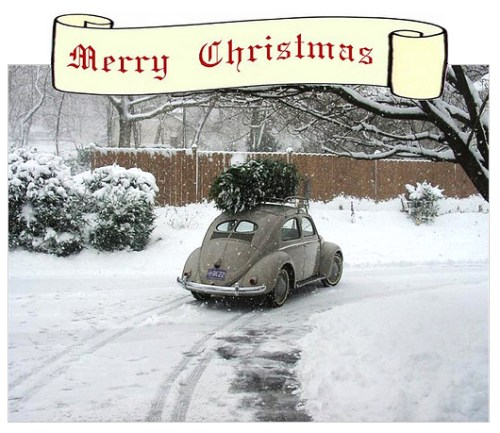 merry christmas  vw beetle