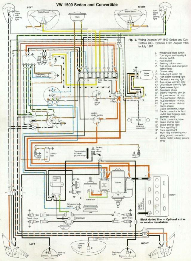 '66 and '67 vw beetle wiring diagram – 1967 vw beetle