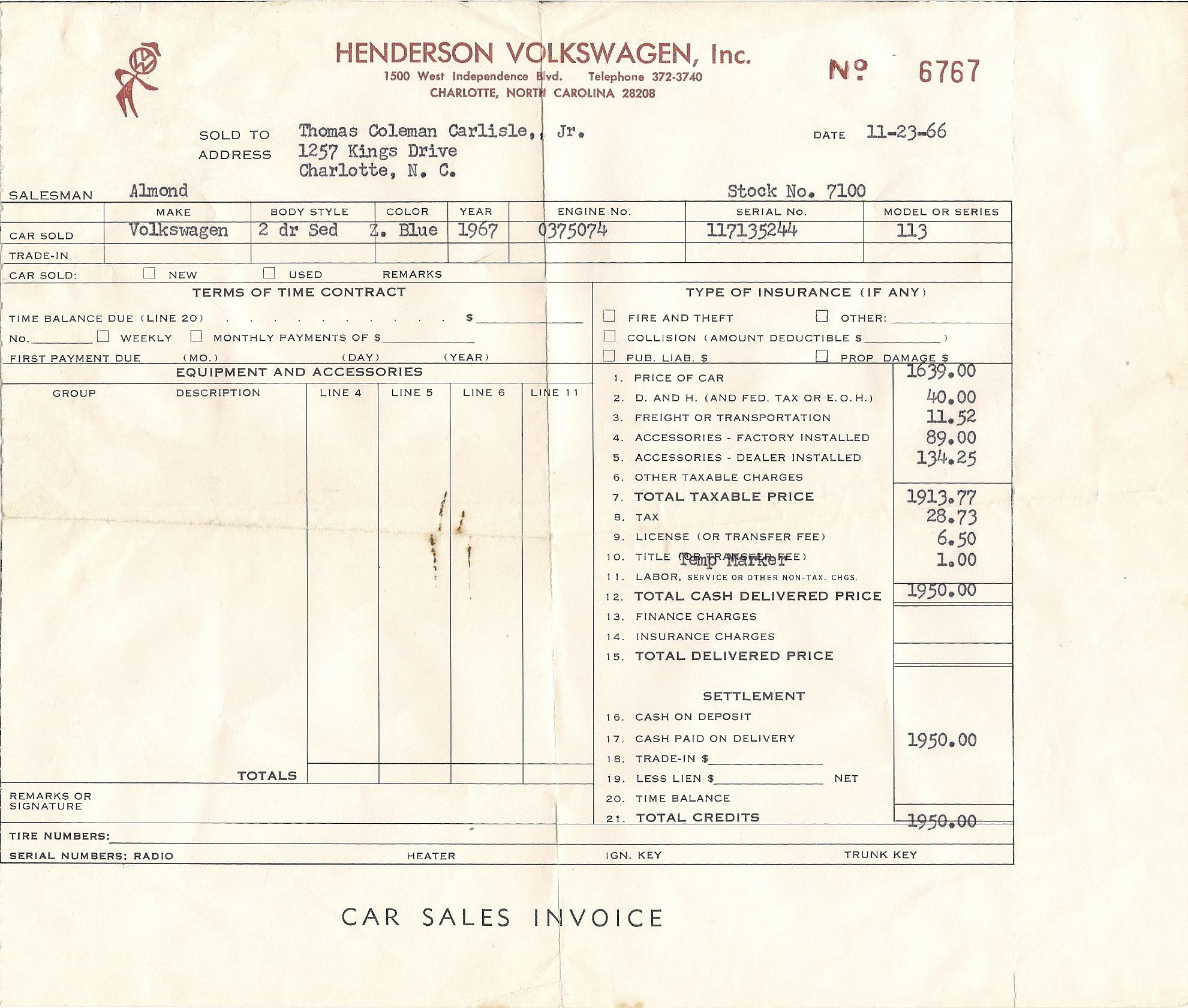 67 beetle original dealership documents 1967 vw beetle
