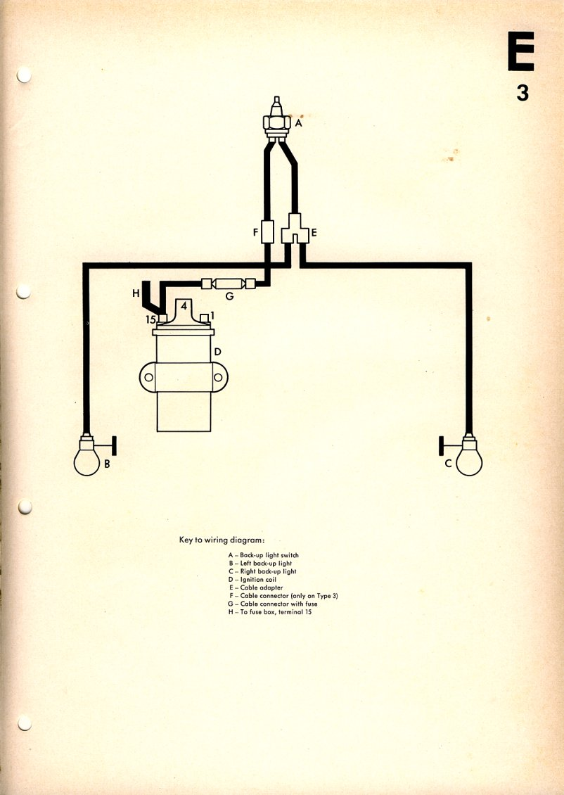 reverse light wiring diagram \u2013 1967 vw beetlereverse light wiring diagram