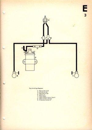 Reverse Light Wiring Diagram | 1967 VW Beetle