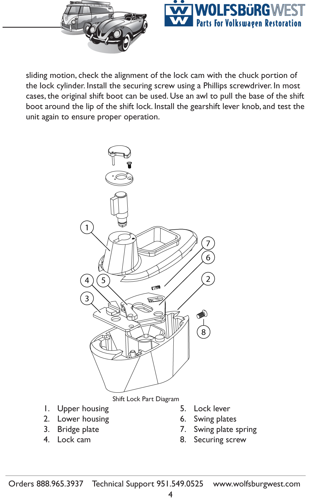 67 Beetle Safety — Shift Lock – 1967 VW Beetle